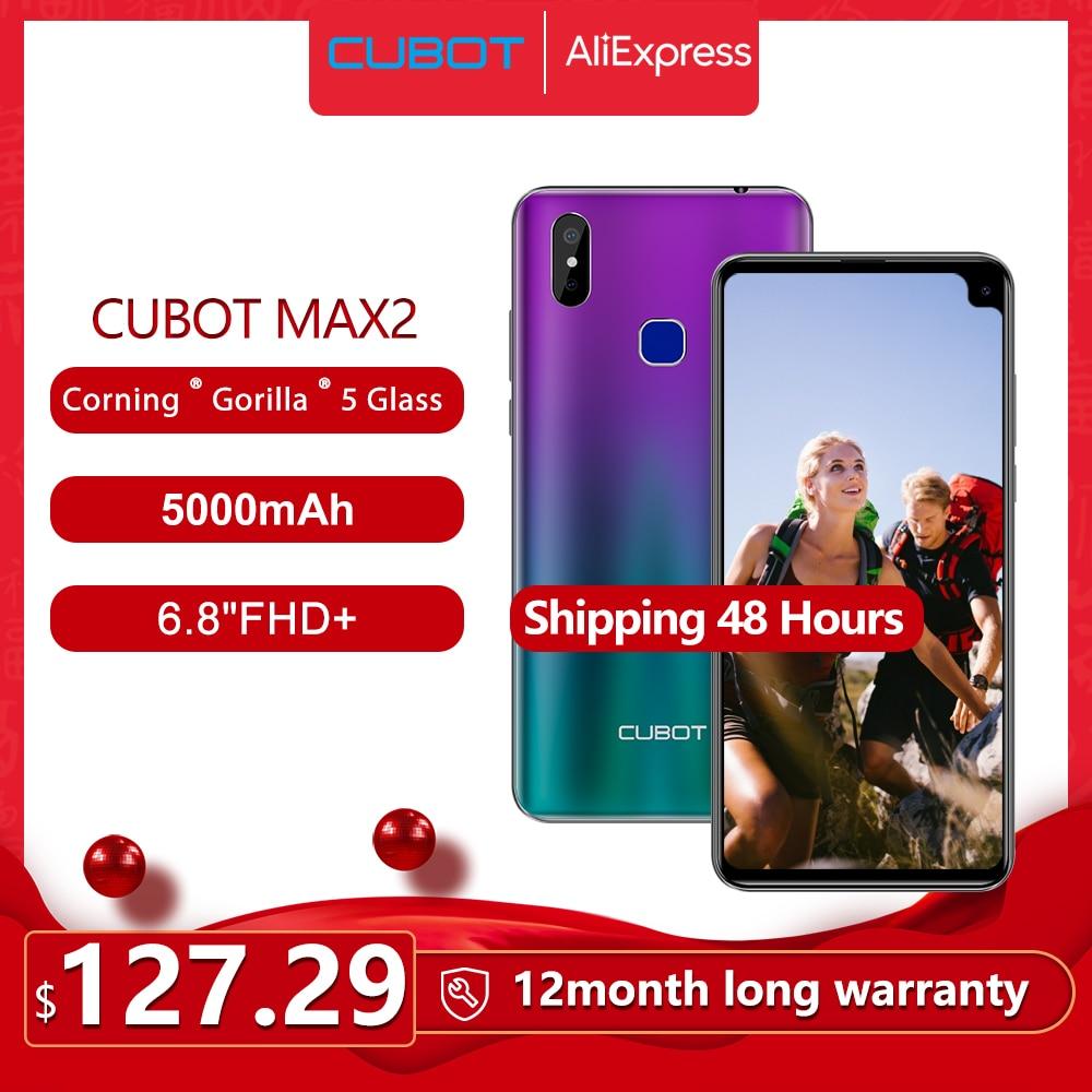 "Cubot Max 2 Smartphone Octa-Core 6.8"" 5000mAh Type-C 4GB+64GB Android 9.0 Dual Camera 12MP 4G LTE Face ID Corning Gorilla Glass"
