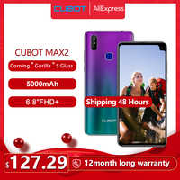 "Cubot Max 2 Smartphone Octa-Core 6.8"" Big Screen 5000mAh Type-C 4GB+64GB Android 9.0 Dual Camera 12MP 4G LTE Face ID Cellure"