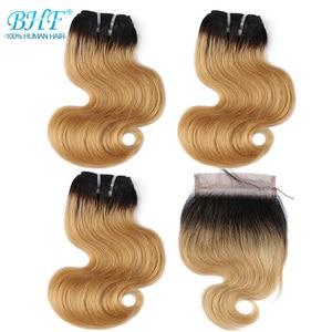 Image 2 - BHF 100% человеческие волосы, волнистые, 3 шт. в партии, с застежкой, бразильские Реми, 50 г/упак., наращивание волос, короткий Боб, парик, стиль