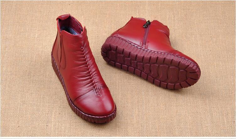 confortáveis mocassins casuais lado zip tornozelo botas