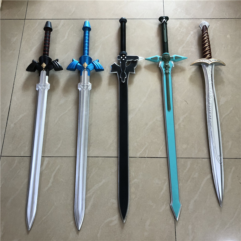 5 Styles Cosplay Sword The Hobbit Gold Sting Blue Black SkySword SAO Elucidator Dark Repulser Sword Halloween Weapon Sword Prop