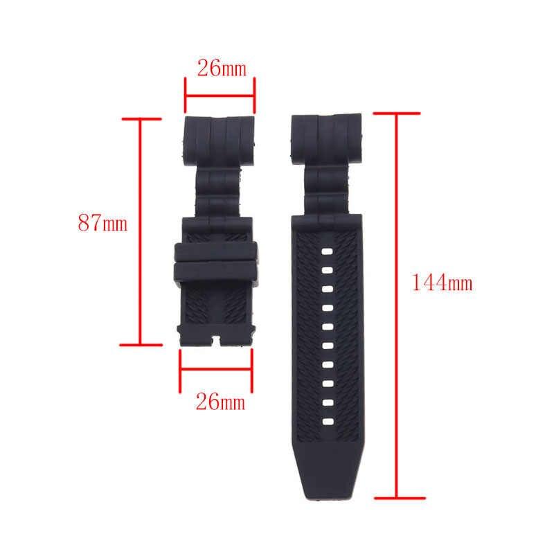 Correa de reloj de silicona negra de 26mm de alta calidad para la correa de reloj de Invicta Bolt para hombre correa de reloj deportiva impermeable