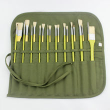 Cotton Canvas Painting Brush Curtain Water Chalk Pouch Special Pen Pouch for Writing Brush Storage Bag Brush Finishing Pen Roll