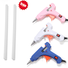 1 set 20W Hot Melt Glue Gun With Glues Stick Industrial Mini Guns Thermo Electric Heat Temperature Tool For DIY Jewelry Making