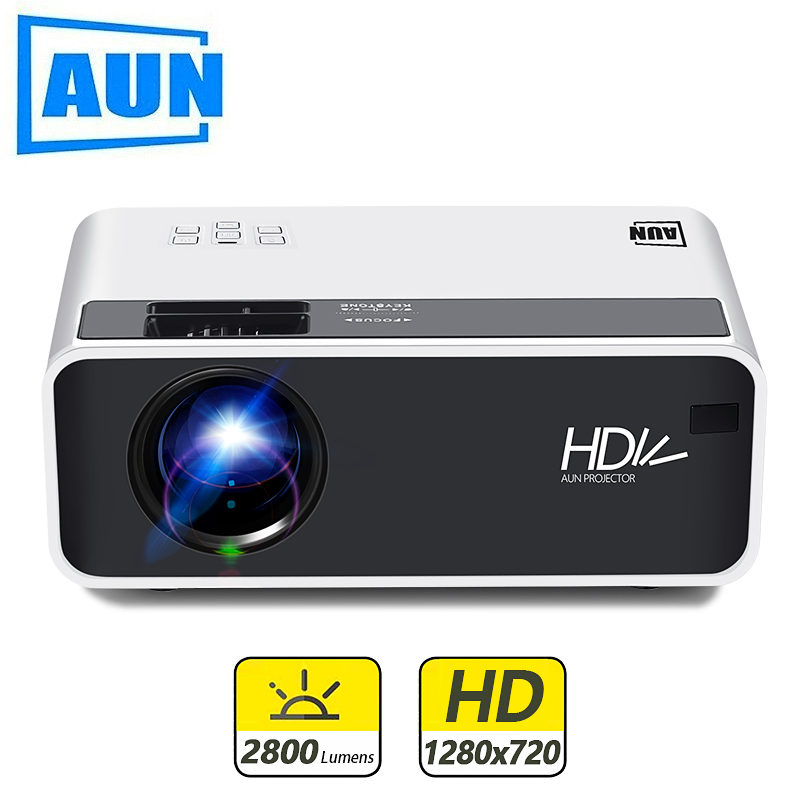 AUN MINI Projector Video-Beamer Home Cinema Android Portable WIFI Optional D60 3D LED