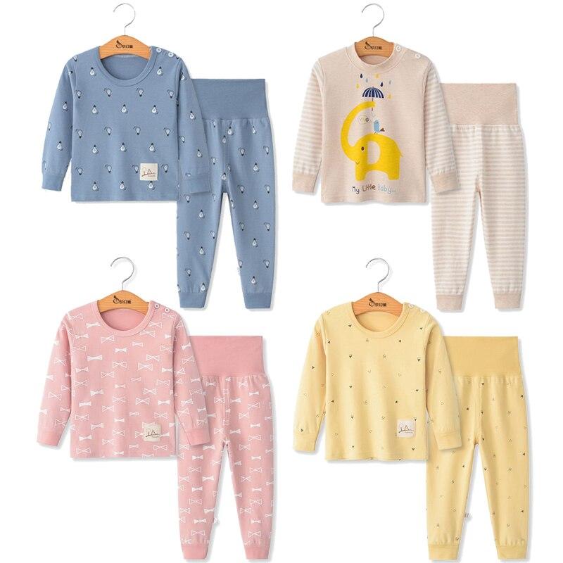 Juego de pijama para niños otoño ropa para niños traje de Navidad ropa de dormir para niños Pijamas de dibujos animados para niñas Pijamas infantiles