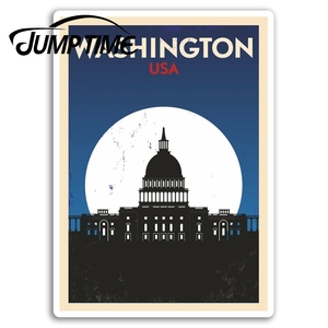 Jump Time for Washington USA Vinyl Stickers  Sticker Car Luggage Travel Gift Decal Rear Windshield Waterproof Car Accessories