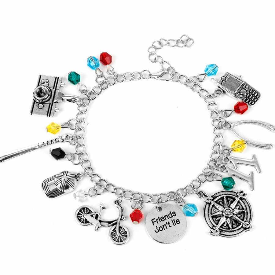 Glamour dame Bracelet moto étranger choses caméra téléphone Bracelet rétro amis ne pas mentir Bracelet métal bijoux Y20