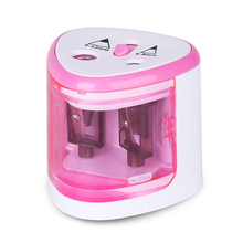 Newst Electric Pencil Sharpener Two-hole Touch Switch Automatic Student School Supplies Stationery