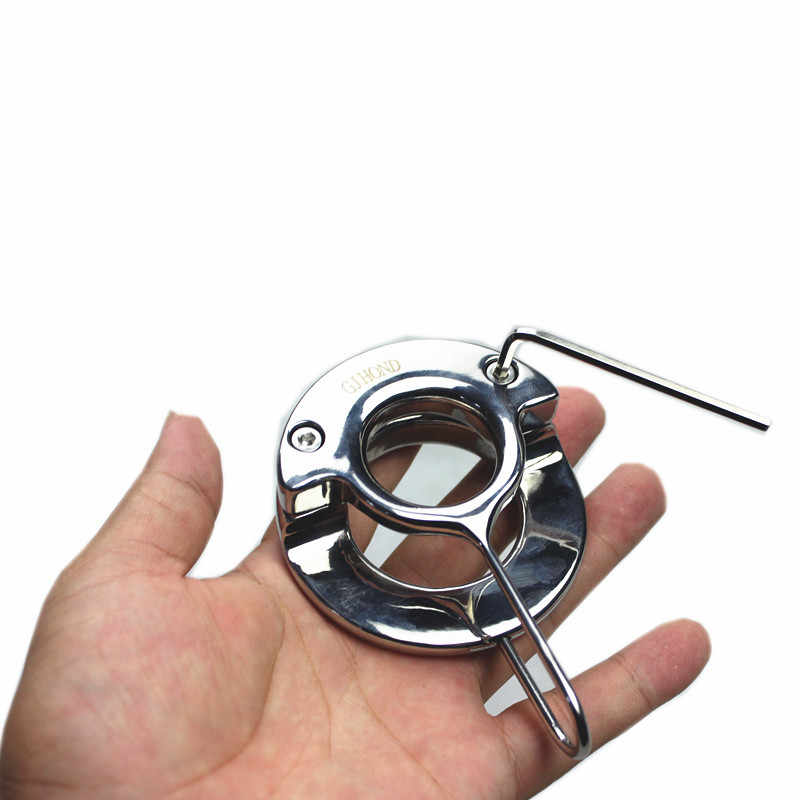 חדש עיצוב האשכים תליון משקל-נושאת טבעת מתכת אשכים טבעת פין נעילת פין טבעות כבד זכר האשכים תליון B2-2-112