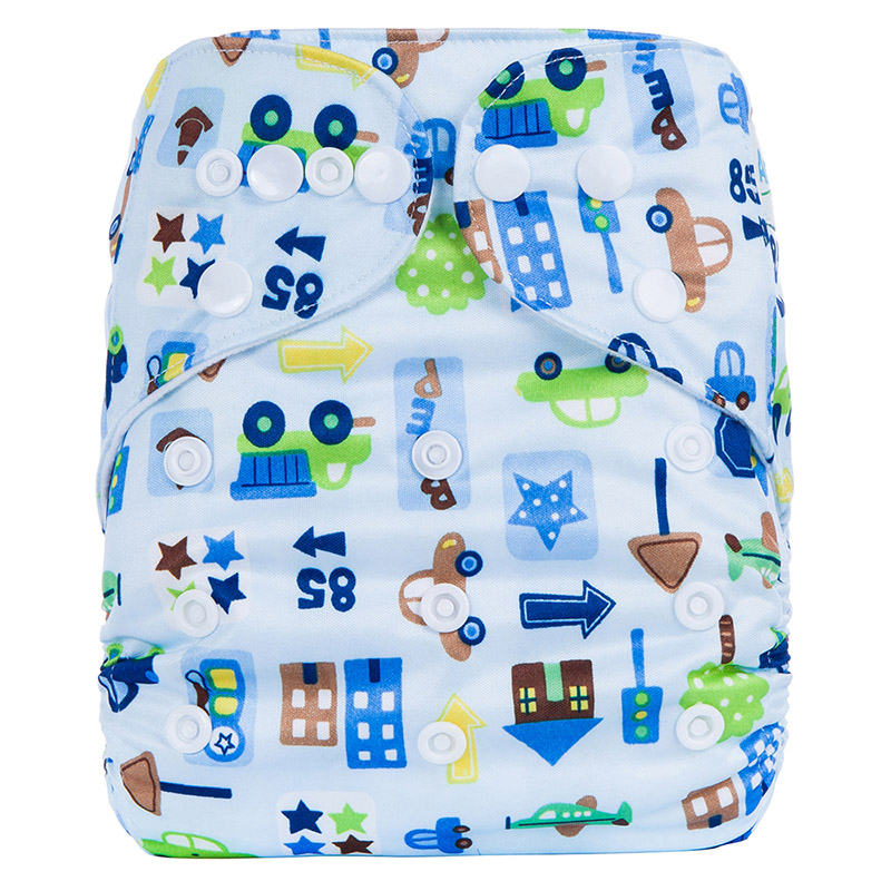 Organic Baby Diapers Plastic Backed Washable Organic Baby Diapers All In One Reusable Nappy R1
