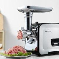 Máquina de carne moedor carne elétrico doméstico multifuncional mexer enema mincemeat aço inoxidável 400w alta potência