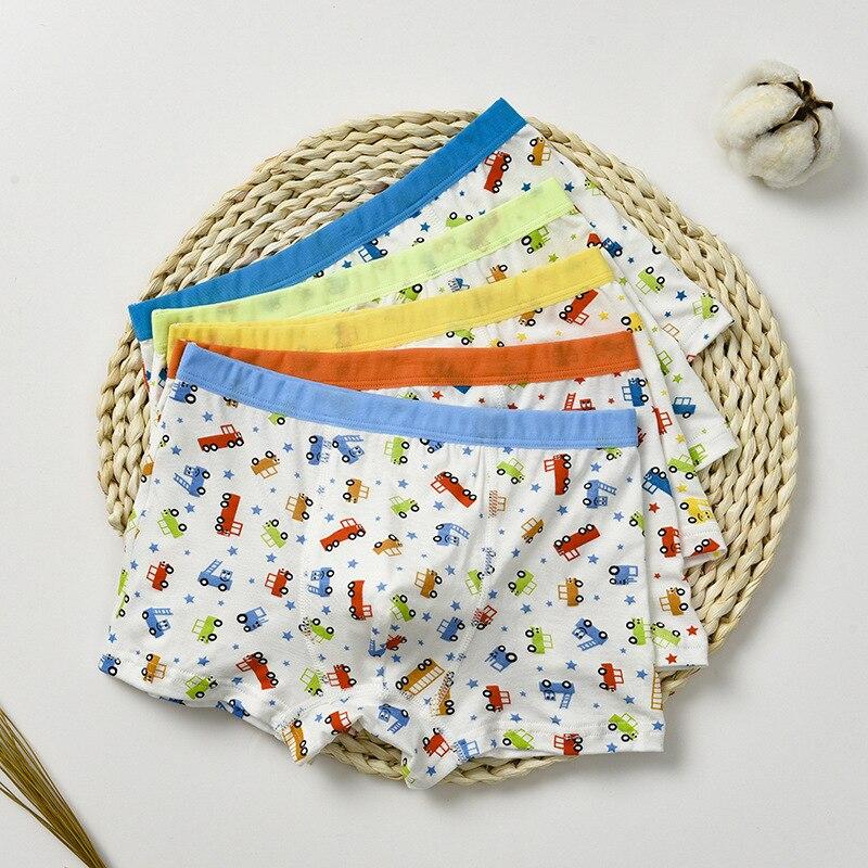 2-8Years Underwear Soft Breathable Random Colors Boys Boxer Kids Underwear Boy Underpants Boxer Modal Soft For Children Gift