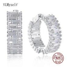 24 mm diameter Real 925 silver hoop earrings jewelry luxury Anniversary Gifts jewellery sterling wide circle earring