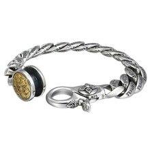 925 sterling silver Bracelets Bangle Buddha Mantra Instrument Vajra bracelets gifts for men