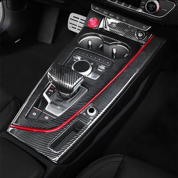 Real Carbon Fiber Gear Shift Panel /& Knob Cover For Audi A4 B9 A5 2017-2019 LHD