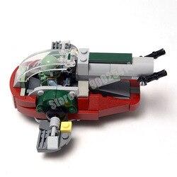 Nova star wars mini escravo um i microfighter moc bloco de construção tijolos diy brinquedos modelo MOC-20373 crianças presentes
