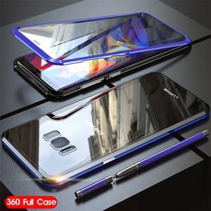 Image 3 - 360 Đầy Đủ Từ Ốp Lưng Dành Cho Samsung Galaxy Samsung Galaxy S8 Plus S8Plus S9 Note 9 8 Note9 Note8 Kim Loại Ốp Lưng Kính Cường Lực dành Cho Samsung S8 Ốp Lưng Trên