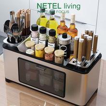 Кухонный органайзер стойка для хранения столовых приборов многофункциональная