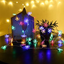 Christmas Snowflake Light LED Light String 3m 20LED Snowflake Decoration Light String Festival Snowflake Light String Decoration