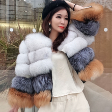 2019 new style real fur coat  Womens natural fur jacket winter Warm fox fur Short coat high quality fashion Fur vest
