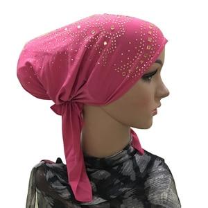 Image 5 - 이슬람 내부 Hijab 모자 여성 모자를 쓰고 있죠 Underscarf 이슬람 머리 랩 모자 모자