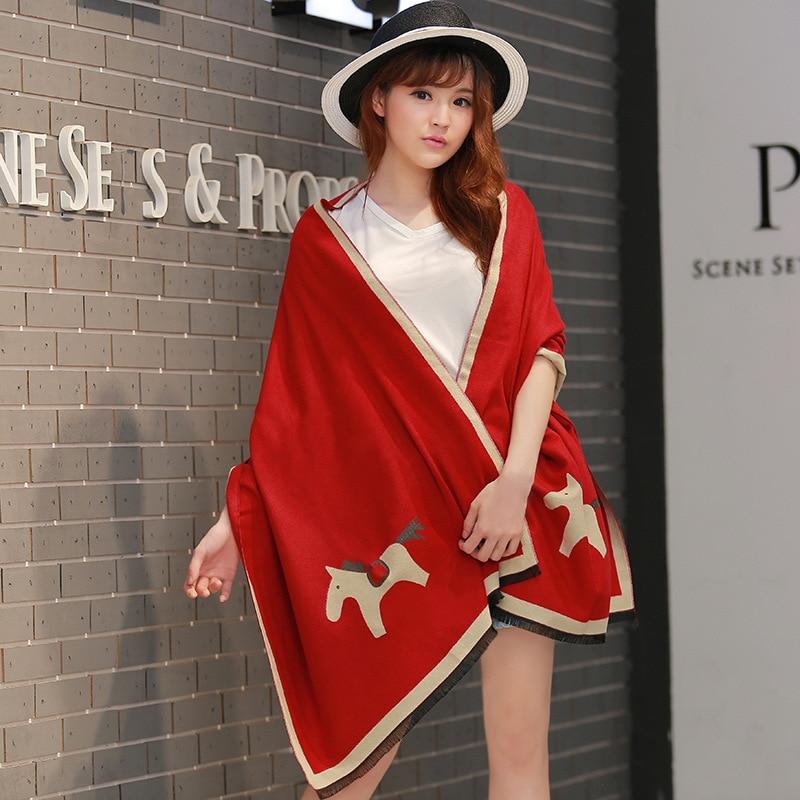 Autumn And Winter Imitation Cashmere Thick Warm Scarf Long Shawl Bufanda Style Luxury Scarf Women Designers Шарф Женский