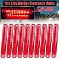 Аксессуары для грузовика 10X Красный 9 LED герметичный боковой габаритный фонарь для грузовика прицепа для грузовика автобуса светодиодный фо...