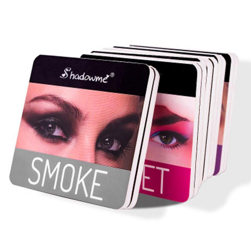 4 Color Wine Red Eyeshadow Palette MakeUp Pressed Shimmer Matte Eye Shadow Long-Lasting Eye Palette Hua For Beauty Cosmetic