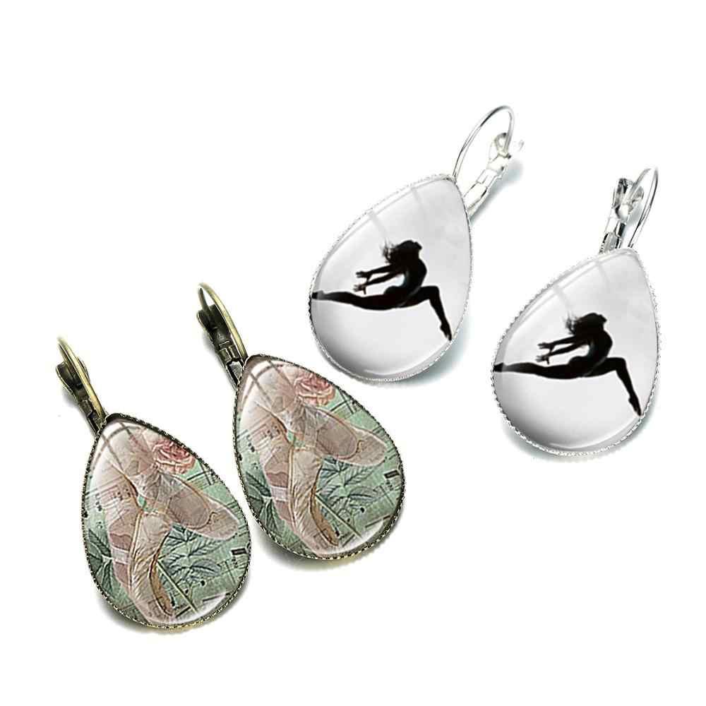 סיאן 2019 קסם בלט רקדנית עגילי בלרינת צללית כסף מצופה זכוכית כיפת עגילים לנשים אלגנטי עדין תכשיטים