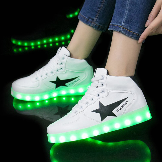 Size 30-44 USB Charge Children Luminous Sneakers Led Shoes for Kids Boys Girls Glowing Lighted Shoes With Lights Casual Shoes 1