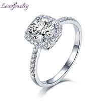 LOVERJEWELRY 2020 Moissanite Jewelry For Women Moissanite Engagement Ring Real 14K White Gold Anniversary Wedding Female Rings