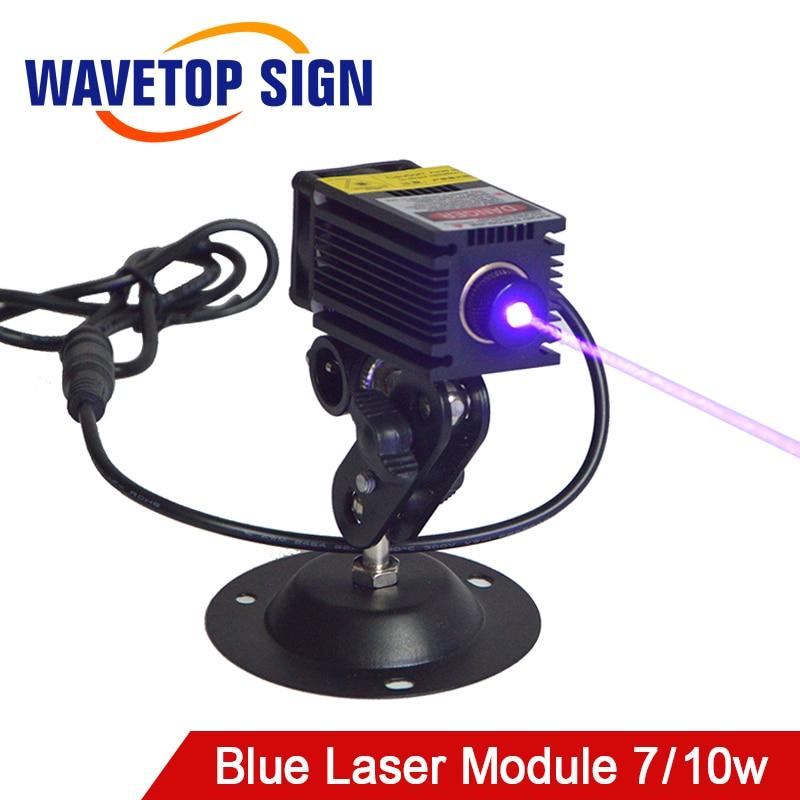 WaveTopSign 450nm 12V High Power Blue Violet Laser Module 7w 10w For Laser Engraving Machine Acessories