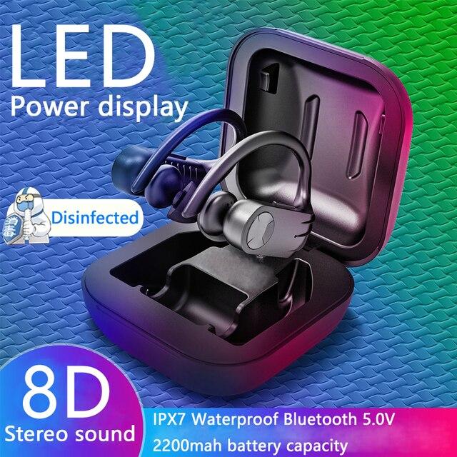 $ US $13.86 CBAOOO B11 Bluetooth Earphones 5.0V Wireless Headphones TWS Stereo Earbuds Handsfree Sport Headset  Led Display For Phone Apple