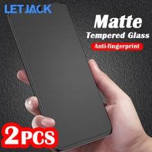 Nenhuma Impressão Digital Fosco Vidro Temperado para Galaxy Samsung A51 A21S M31 S20FE Nota 20 F41 A42 A20 A40 A50 A31 A71 M31 M51 M21S Vidro