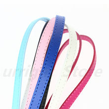 1pc 10mm wide copy leather Belt 1 meter length Fit 10mm wristband bracelet slide charms key chain DIY Accessory jewelry making(China)
