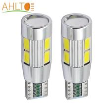цена на 2x T10 5630 10 smd DC 12v Canbus Car Light W5W Bulb No Obc Error clearance turn wedge light side lamp Car styling car accessorie
