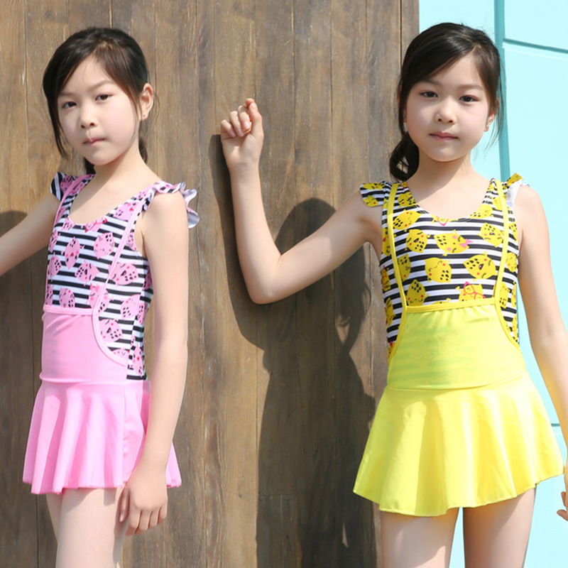 CHILDREN'S Swimwear Split Boxer Bathing Suit Cute Princess Hot Springs Tour Bathing Suit Manufacturers Direct Selling