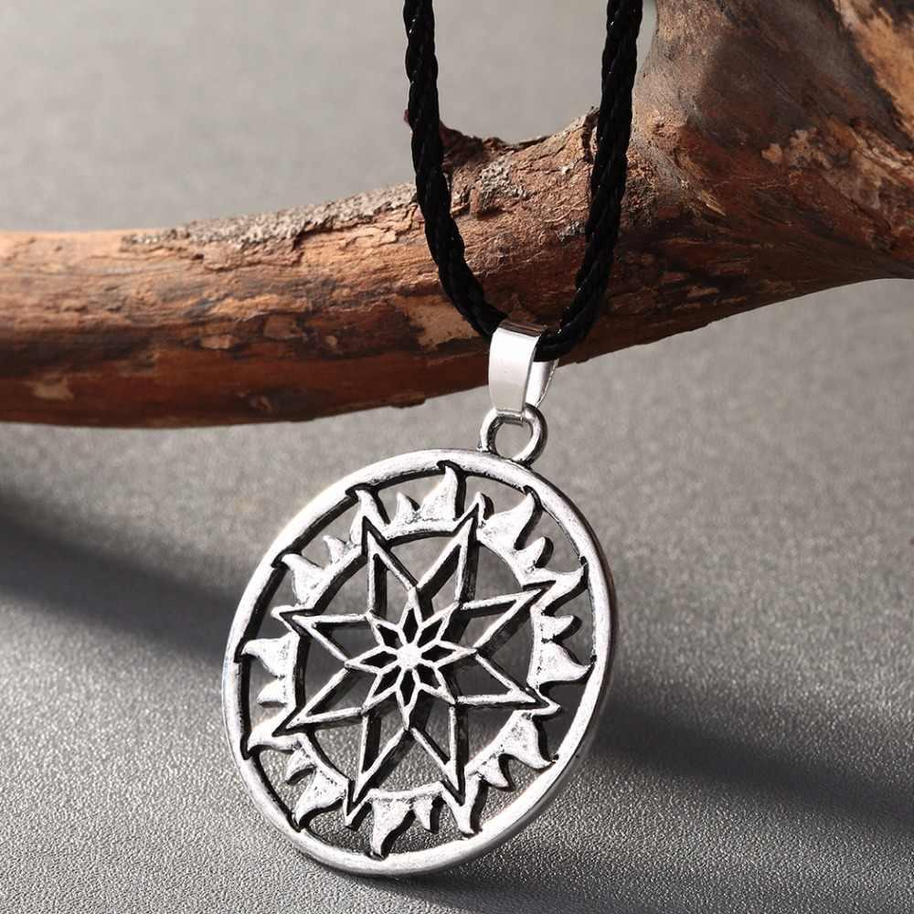 QIMING Nordic Celtic จี้สร้อยคอ Talisman Amulet Shield ไวกิ้งสร้อยคอผู้หญิง Retro เครื่องประดับ Slavic Symbol ของขวัญ