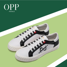 OPP Mens Shoes Male Leather England Breathable Casual Personality Lazy Wild Set Foo shoes youth personality low top