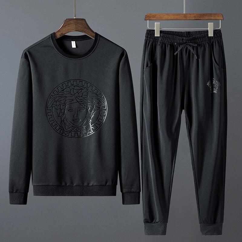 Mens Sports Suit Tracksuit Men Jogging 2019 Two Piece Set Fashion Men's Clothing Autumn 8XL TJWLKJ
