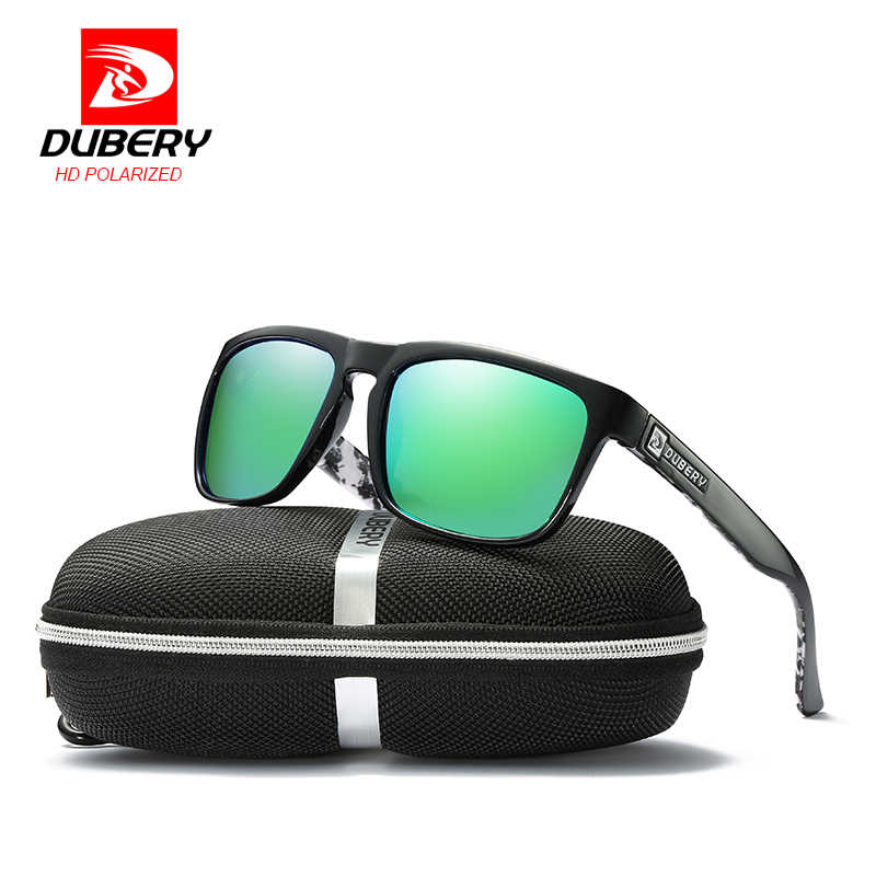 DUBERY Mens Vintage Polarized Sunglasses Driving UV400 Women Outdoor Shades Cool