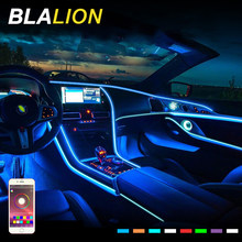LED Car RGB Neon Lamp EL Neon Wire Strip Light Flexible Atmosphere Lamp App Sound Control 12V Interior Decorative Ambient Lights