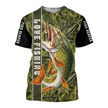 Love Fishing trout Fishing T Shirt All Over Print