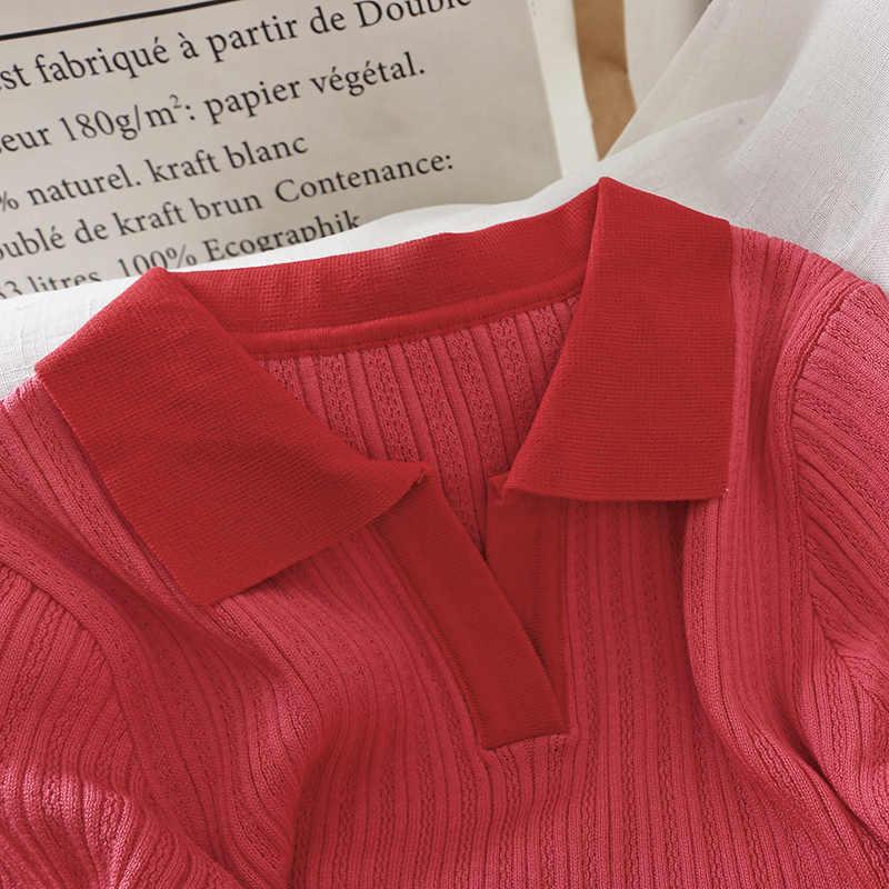 Новые летние женские трикотажные платья с v-образным вырезом, отложной воротник, чистый тонкий до колен «Гладиатор» с ремешками Повседневные платья Модная верхняя одежда для девочек, топы