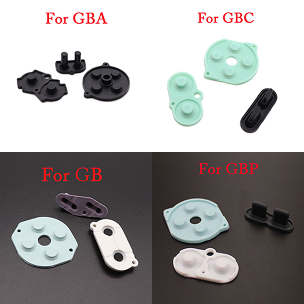 1set Rubber Conductive Buttons A-B D-pad For Game Boy Classic GB GBA GBC GBP GBA SP Silicone Start Select Keypad Repair Parts
