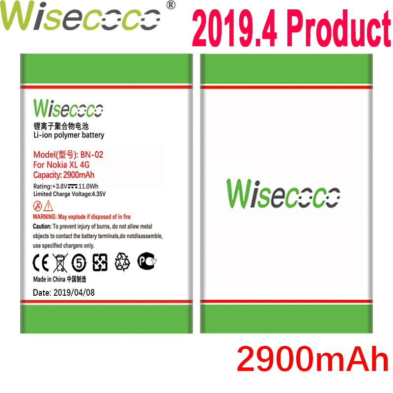 WISECOCO 2900mAh BN-02 Battery For Nokia XL 4G RM-1030 RM-1042 RM-1061 Phone In Stock Latest Production Battery+Tracking Number image