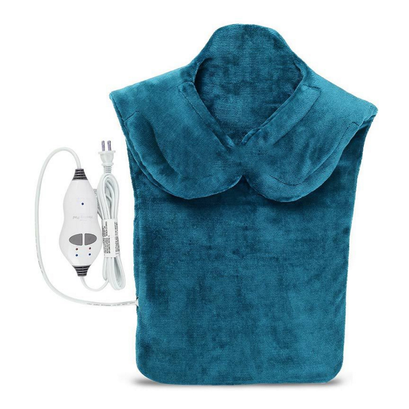 Image 5 - Flannel Health Relief Wrap Neck Shoulder Back Muscles Pain Relief Heating Pad Extra Long Massaging Heat Wrap Household Massager-in Electric Heaters from Home Appliances