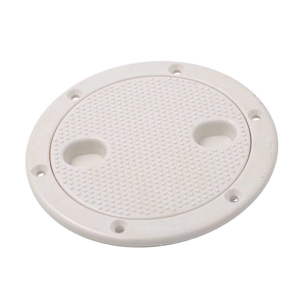 Marine Boat RV White 4 Inch Access Hatch Cover Lid Screw Out Deck Plate