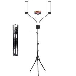 Новый светильник для фотосъемки ing 3000K-6000K, светодиодный светильник с двумя ручками для селфи, лампа для фотостудии, штатив для видео, прямой ...